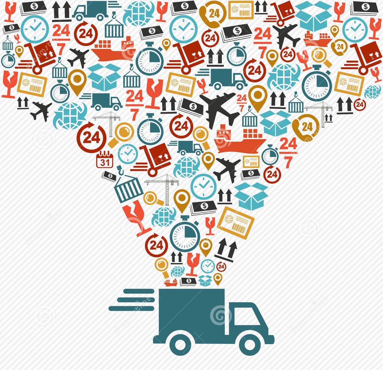 shipping-icons-set-fast-delivery-truck-concept-ill-logistics-speedy-splash-illustration-vector-file-layers-easy-33271571