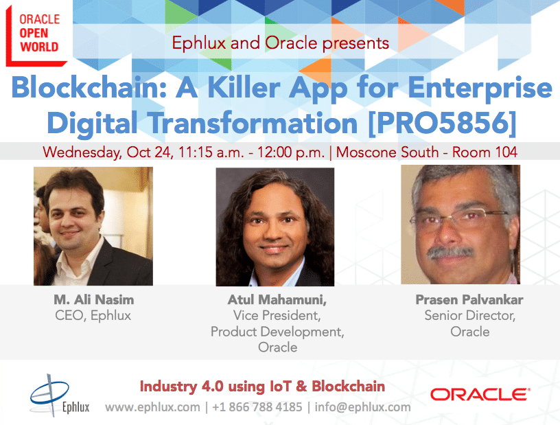 Pharma 4.0 Using Oracle Production Monitoring and Blockchain