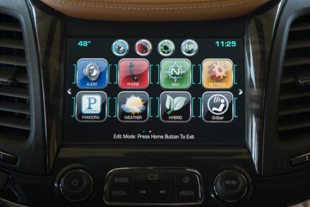 Chevy MyLink interface