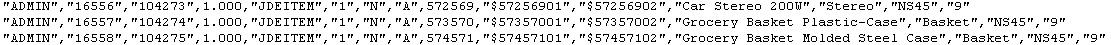 JD Edwards Table Conversion flat file EDI format