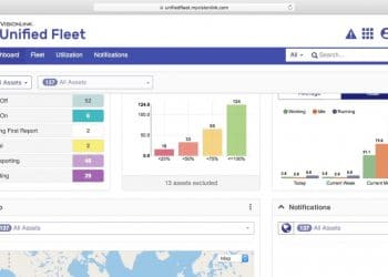 """Unified Fleet – Dashboard: JD Edwards Orchestration behaves as a """"digital thread"""" and in turn connects the real-time data captured by the """"digital twin. Since most construction companies have more than one brand of construction equipment in their fleet, VisionLink Unified Fleet has been designed to work with all equipment brands. Contact your dealer to discuss how you can have that information shown all in one place, right here in VisionLink Unified Fleet."""" based on LOADRITE Trimble integration"""