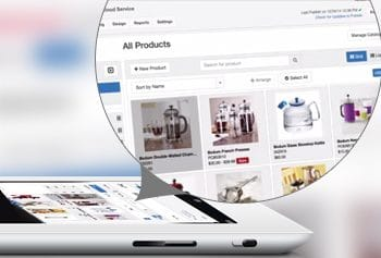 Powerful Catalog Management: Easily upload, manage, create categories, and merchandise your products with as few clicks as possible