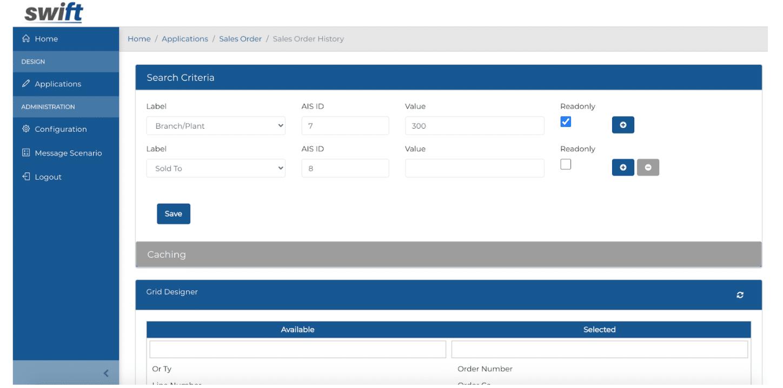 Browse Form - Search Designer