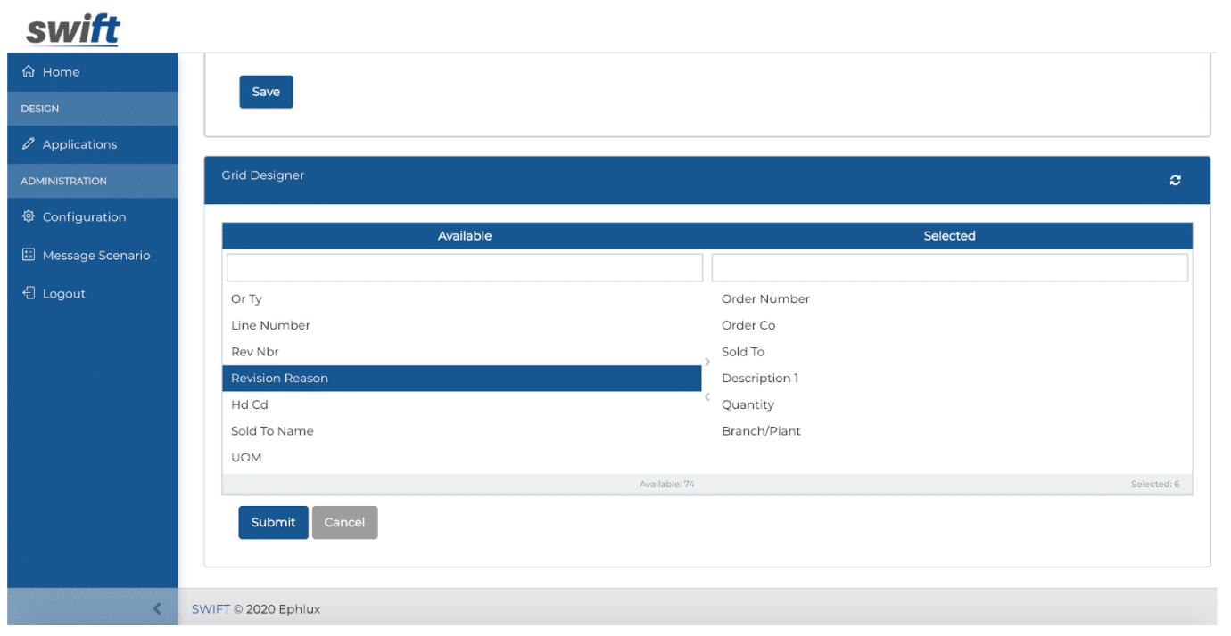 Browse Form - Grid Designer