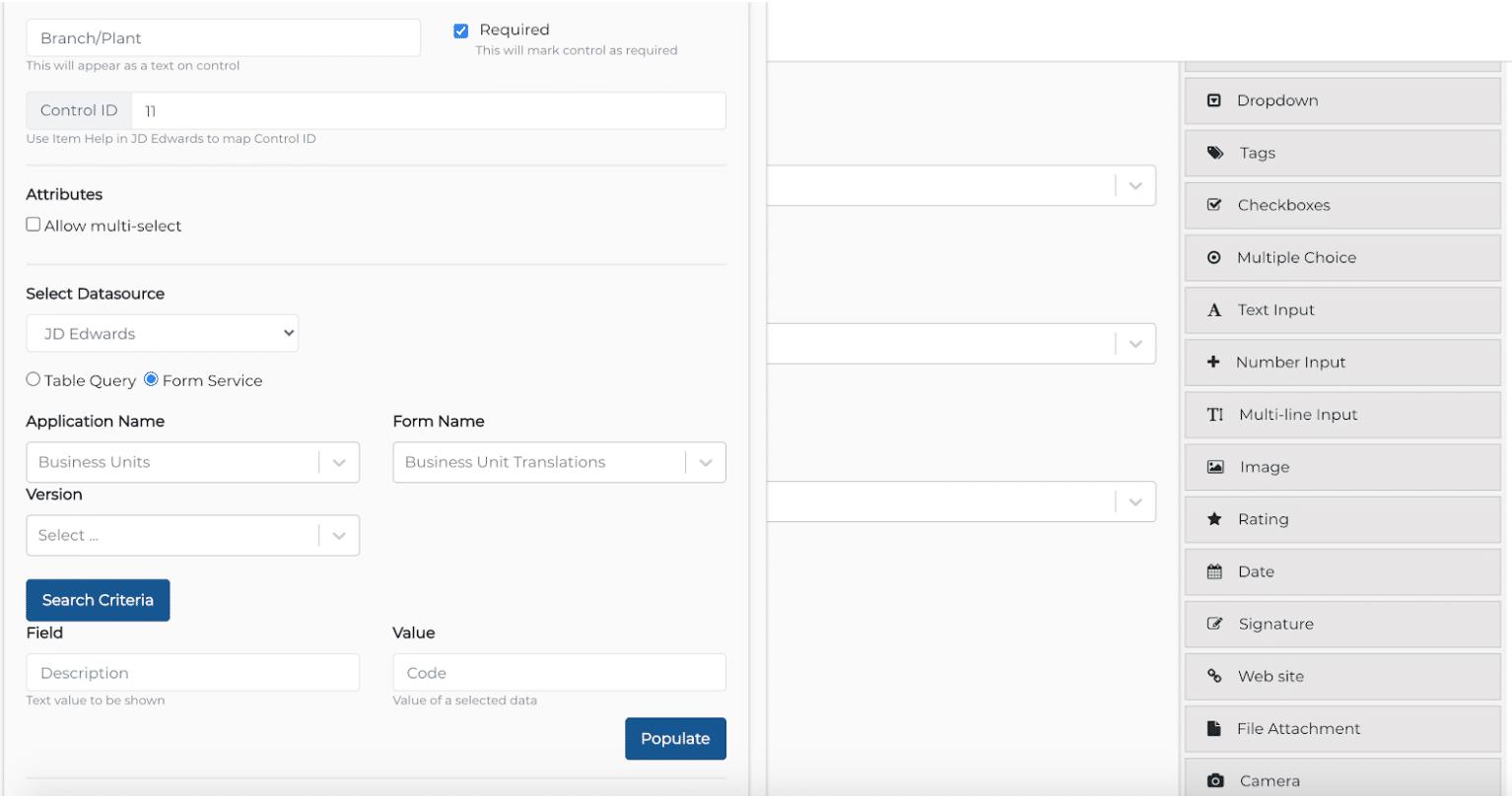Entry Form Designer - JDE Apps & Forms