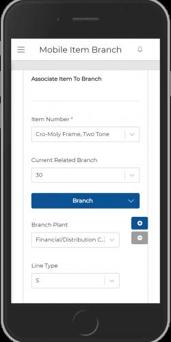 Associate Item to Multiple Branch