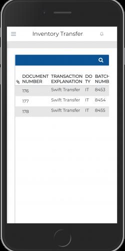 Inventory Transfer Inquiry