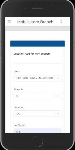 Location Add for Item Branch
