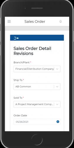 Sales Order Detail Revision