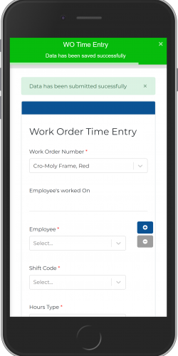 Work Order Time Entry- Submitted