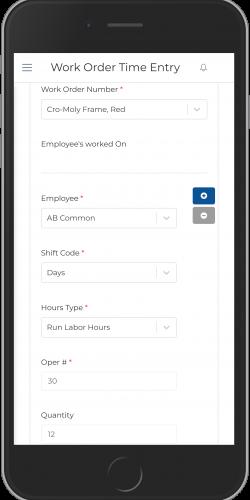 Work Order Time Entry